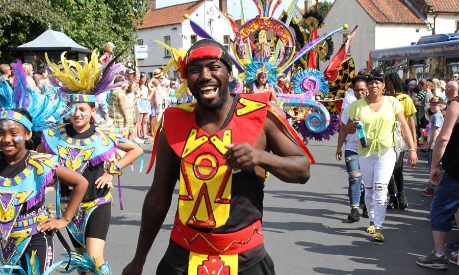 Man at carnival