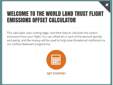 Flight Emissions Carbon Offset Calculator. © WLT.