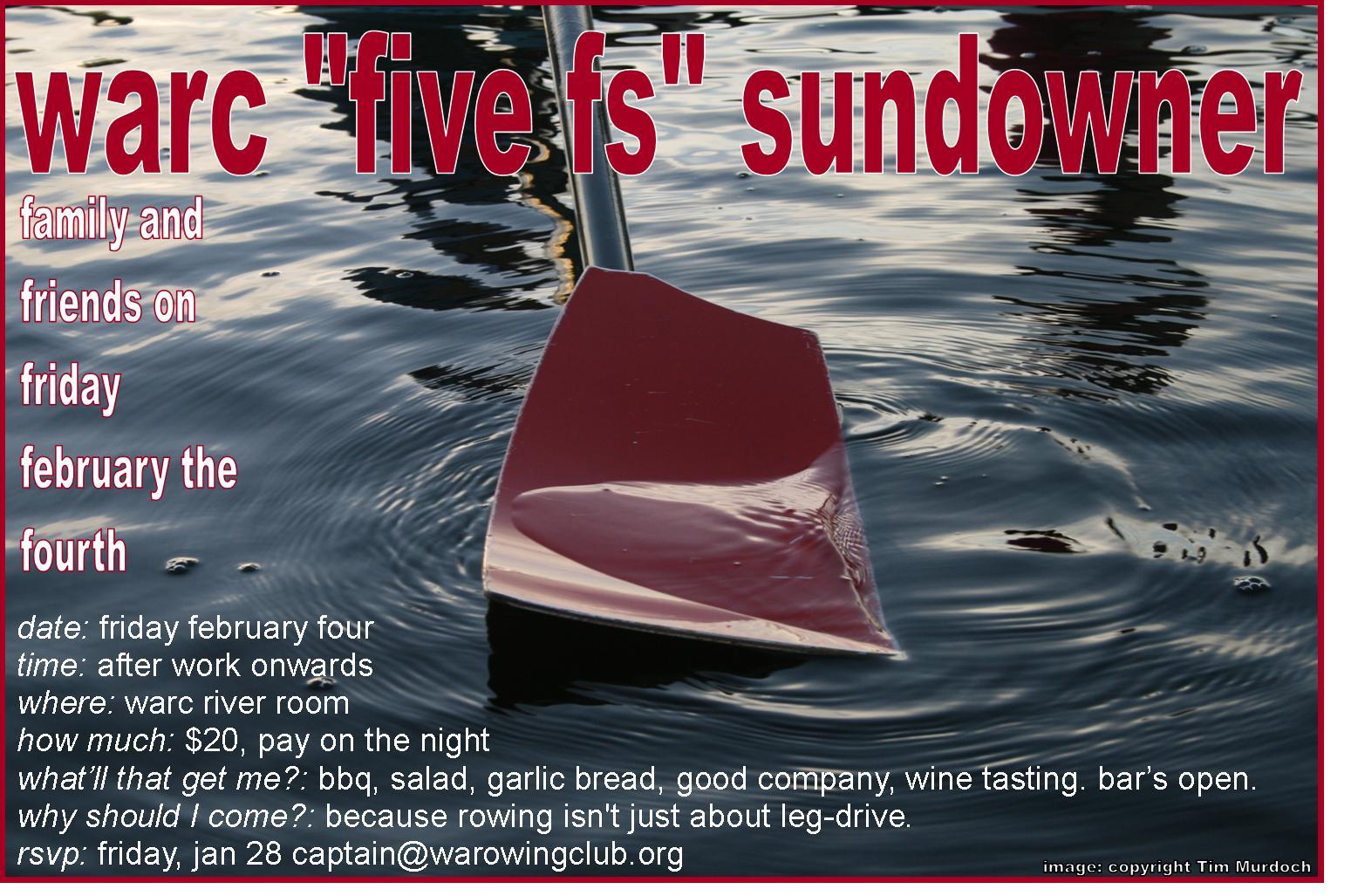 WARC Five Fs Sundowner