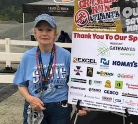 Louise Radloff at the 2018 Quarry Crusher Run