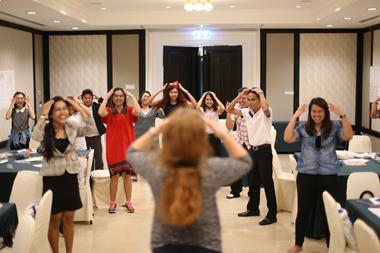 Trainees in Thailand try out some TPR
