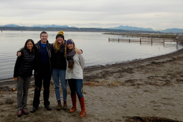 Ecotrust Canada's Prince Rupert team, from left to right: Devlin Fernandes, Gerry Riley, Amanda Barney, and Chelsey Ellis.