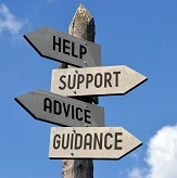 Support and Advice Sign