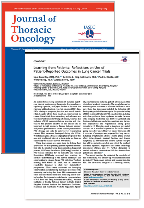 Article in Journal of Thoracic Oncology