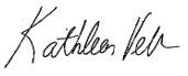 Kathleen Verb Signature