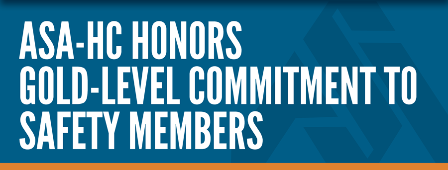 ASA-HC Honors Gold-Level Commitment to Safety Members