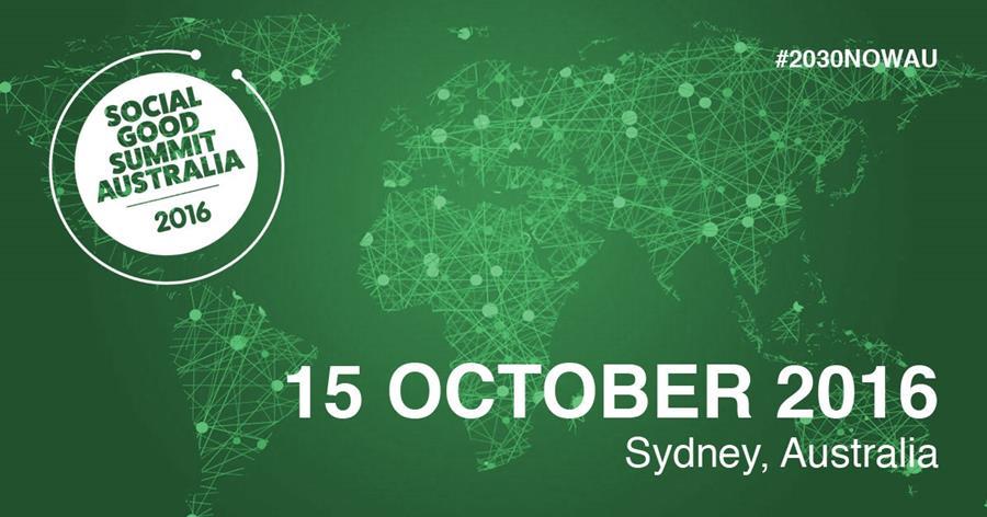 Social Good Summit Australia 2016