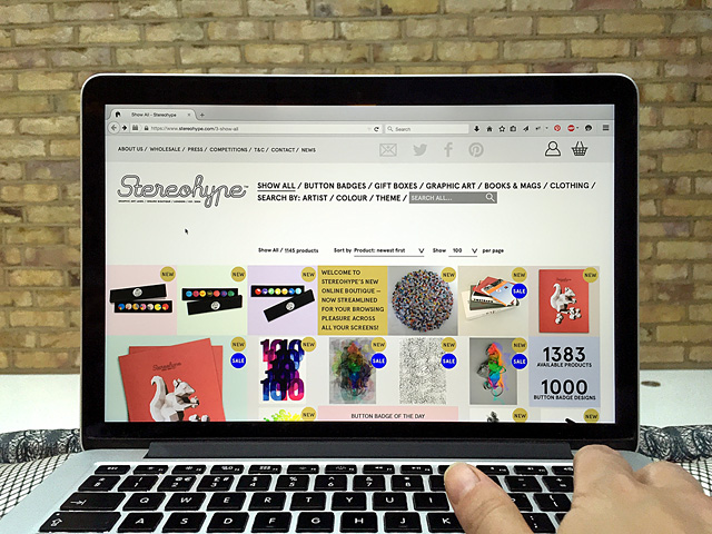 Stereohype is now responsive and is particularly nice on a large retina desktop screen.