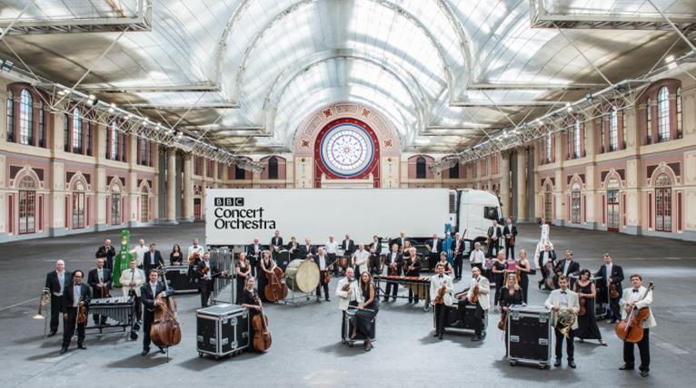 Orchestra in Lynn train station
