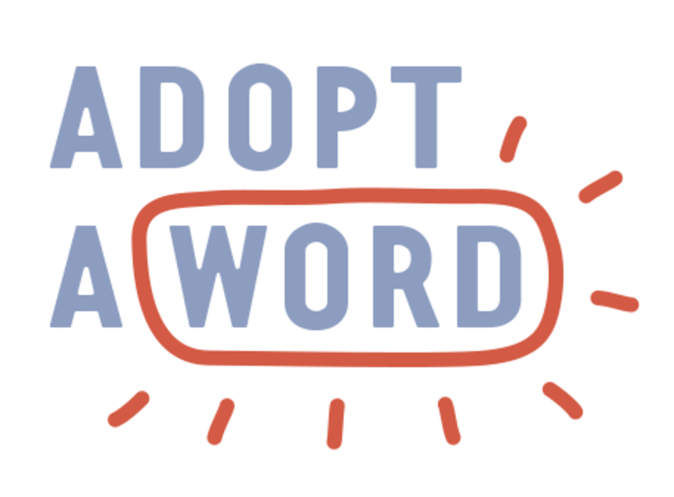Adopt a word - image