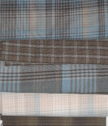 Blue /Brown check fabric bundle from Creative Quilting