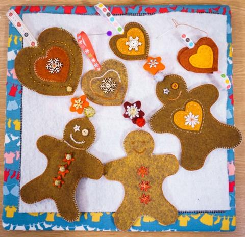 Gingerbread Men Decoration from Kate Percival