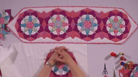 Tudor Rose Table Runner – Part 3 Finishing your project with Nancy Adamek