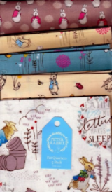 Peter Rabbit 5 fat quarter fabric bundle