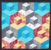Cubitz Too – Patchwork Panel by Helen Butcher
