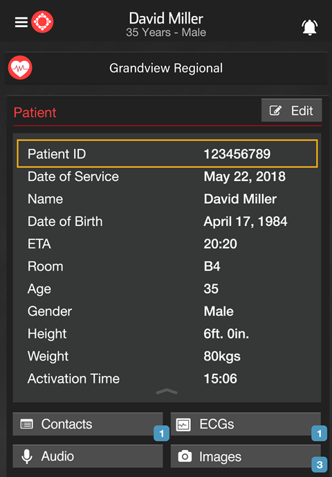 New Patient ID Field