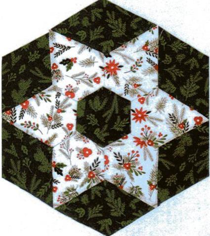Christmas Candle Mat EPP Kit – green & white