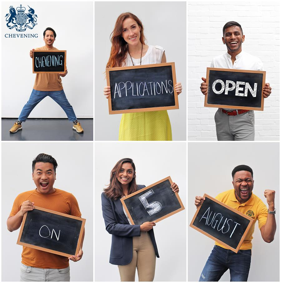 Chevening applications open on 5 August 2019