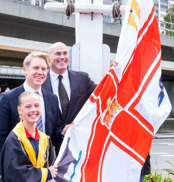 Flag-raising ceremony Melbourne Day