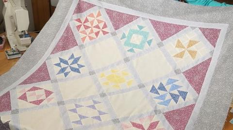 Thangles Sampler with Flurry Fabrics with Valerie Nesbitt