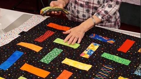 Woven Rail Quilt with Valerie Nesbitt