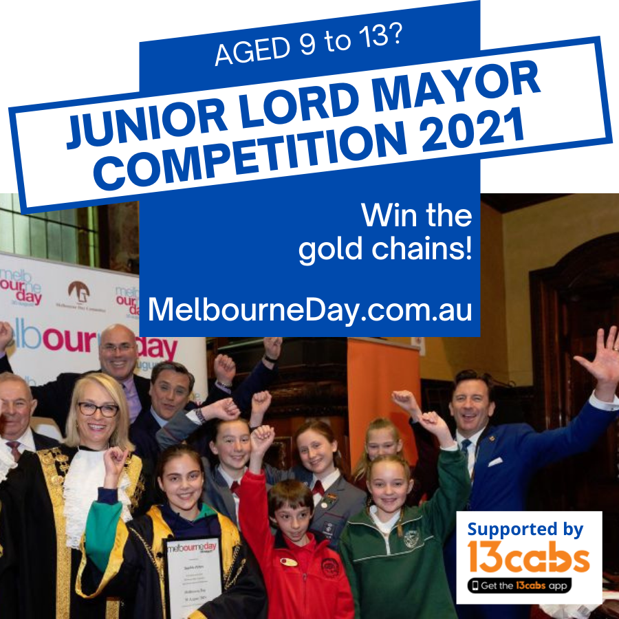 Promotional image for Junior Lord Mayor of Melbourne competition