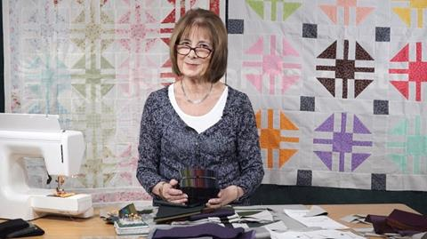 Paths & Stiles with Oakshott fabrics from Valerie Nesbitt