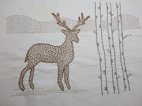 Winter Stag Kantha Kit by Angela Daymond