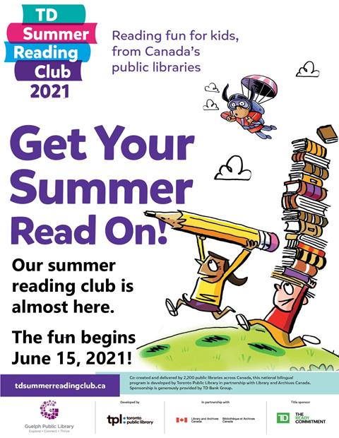 Get your summer read on! Join our children's summer reading club starting on June 15.