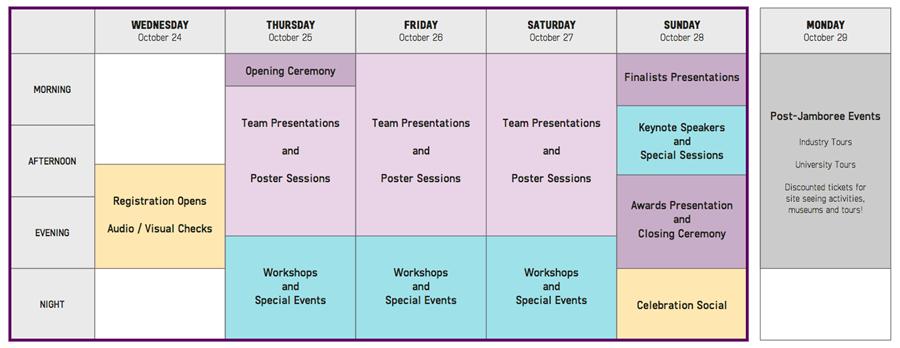 2018 Giant Jamboree Schedule