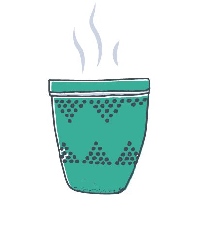 Picture of a steaming coffee/tea cup