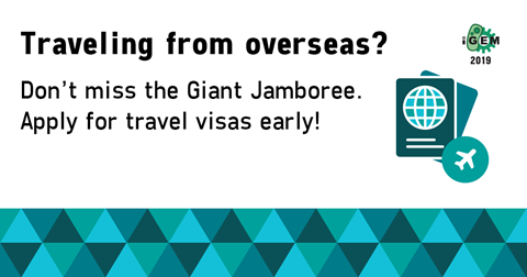 Traveling from overseas? Don't miss the Giant Jamboree. Apply for travel visas early!