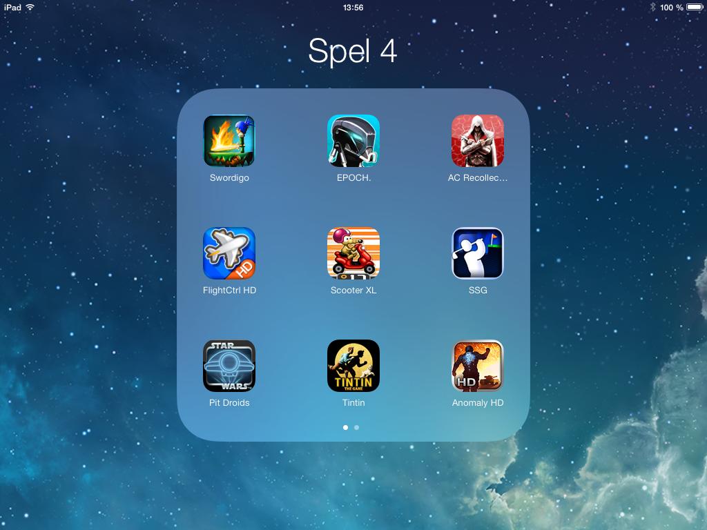Rickards iPad 2 med iOS 7