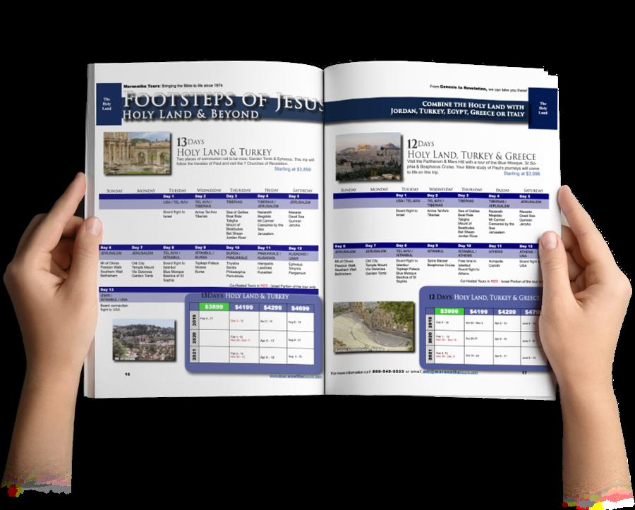 Time to Plan Your Next Trip Through The Bible Maranatha Tours