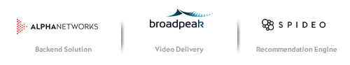 Alpha networks, Broadpeak and Spideo