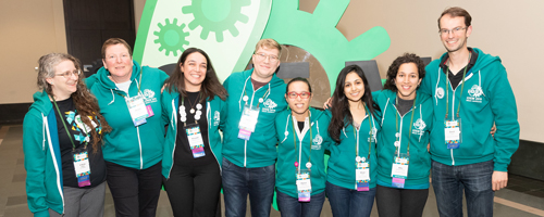 img: Diversity & Inclusion Committee members at the 2019 Giant Jamboree