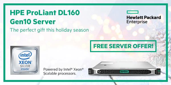 HPE ProLiant Gen10 Free Server Offer