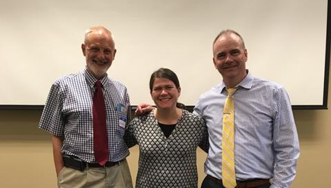Harold Kleinert, Stephanie Meredith, and Sean Roy
