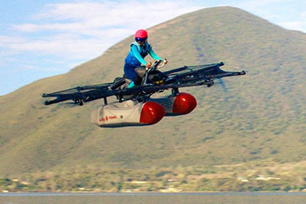 AN ULTRALIGHT PERSONAL FLYING VEHICLE FROM KITTY HAWK