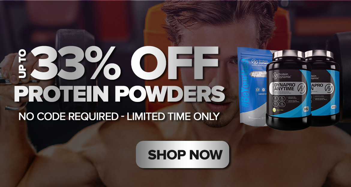33% off Protein powders