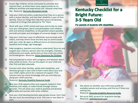 Image of 3-5 Year-Old Checklist