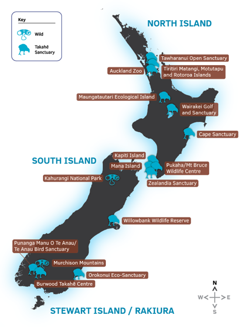 Where takahē live. Image by DOC
