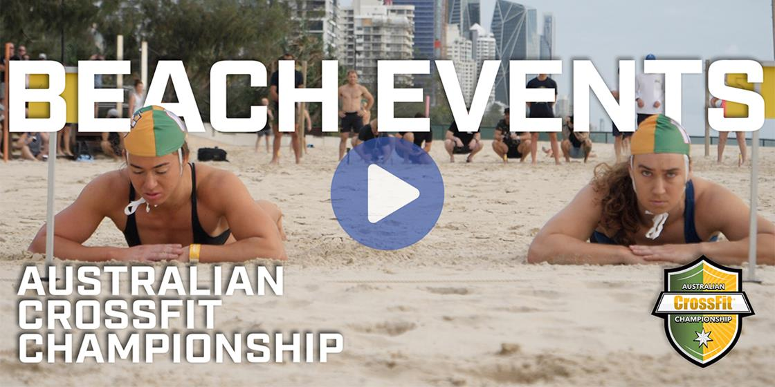 Heading to the Beach at the Australian CrossFit Championship