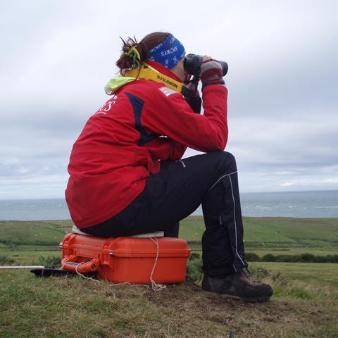 Watching for whales on Bardsey Island