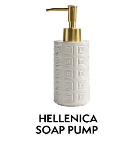 Hellenica Soap Pump with Brass Pump
