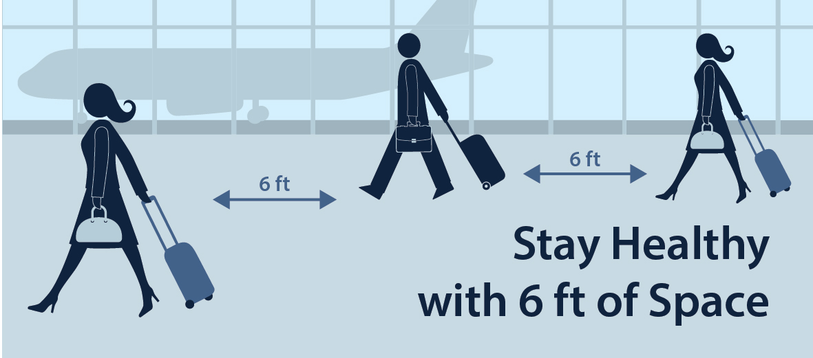 Stay Healthy with 6 ft of Space