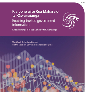 Image of Chief Archivist's Annual Report on the State of Government Recordkeeping with link to webpage of the report