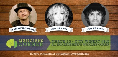Musicians Corner Benefit featuring Tommy Womack, Amy Speace & Tim Easton