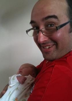 Photo: Adrian with niece Evony