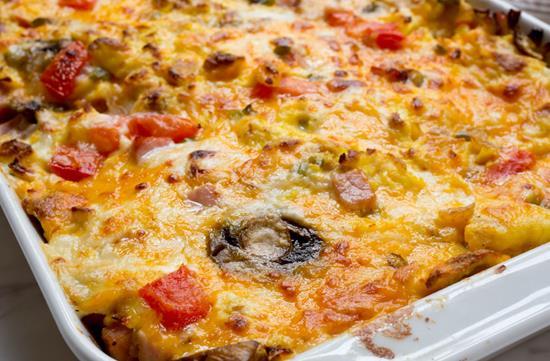 Ham & cheese brunch lasagna